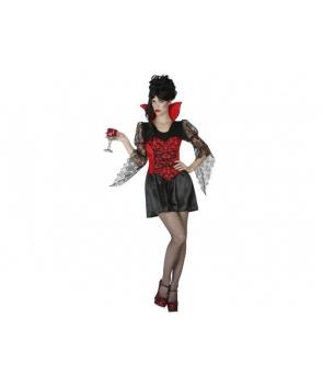 Costum Halloween femei Vampirita cu guler rosu