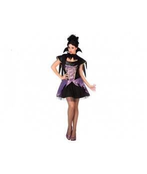 Costum Halloween femei Vampirita cu mov