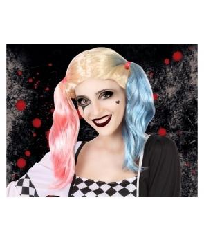 Peruca de carnaval Harley Quinn