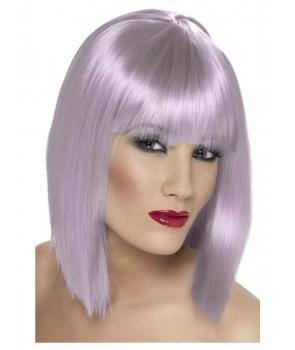 Peruca de carnaval Glam lila