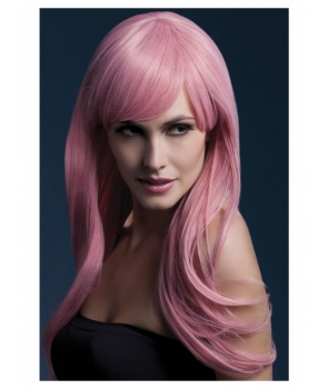 Peruca petrecere de lux Sienna roz pastel