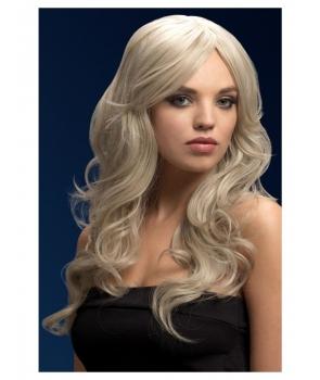 Peruca petrecere de lux Nicole blond argintiu