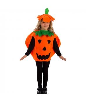 Costum copii dovlecel cu palarie, portocaliu