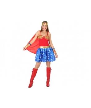 Costum carnaval femei Supereroina Wonder Women