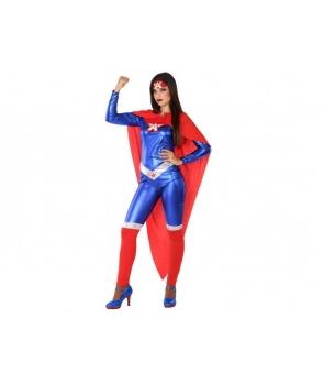 Costum carnaval femei Capitan America