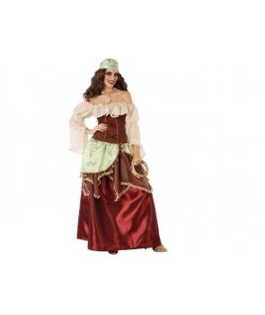 Costum carnaval femei Tiganca cu banuti