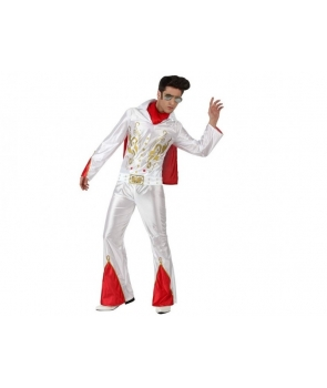 Costum carnaval adulti Elvis alb