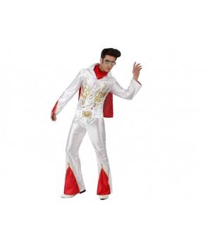 Costum carnaval adulti Elvis alb