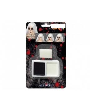 Machiaj Halloween alb-negru