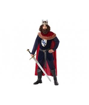 Costum carnaval barbati Rege medieval