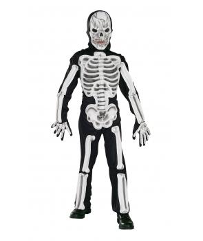 Costum Halloween baieti Schelet cu manusi