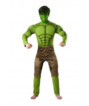 Costum carnaval adulti Hulk cu licenta