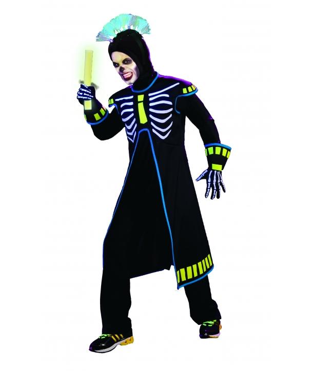 Costum Halloween adolecenti Schelet cu gluga