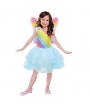 Costum fete Barbie Zana Curcubeu