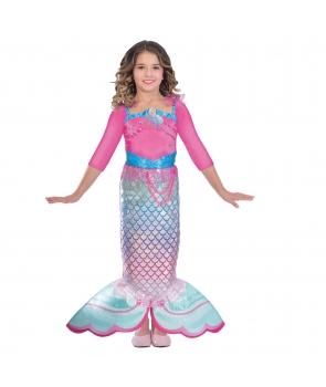 Costum carnaval fete Sirena Barbie