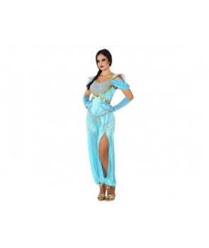 Costum carnaval Printesa araba cu albastru