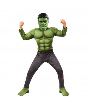 Costum carnaval baieti Hulk cu masca