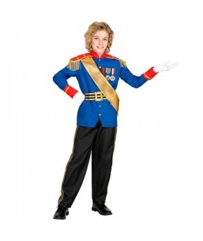 Costum carnaval baieti Printul Cenusaresei cu albastru