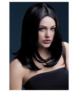 Peruca petrecere Sophia neagra