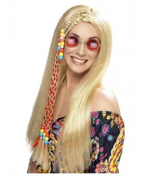 Peruca petrecere Hippie blonda