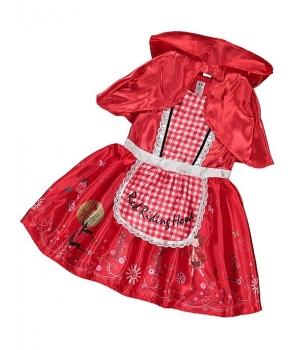 Costum carnaval fete Scufita Rosie de lux