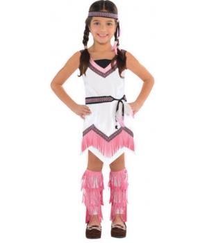 Costum carnaval fete Indianca cu roz
