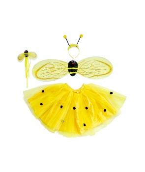 Set albina cu fusta si aripi