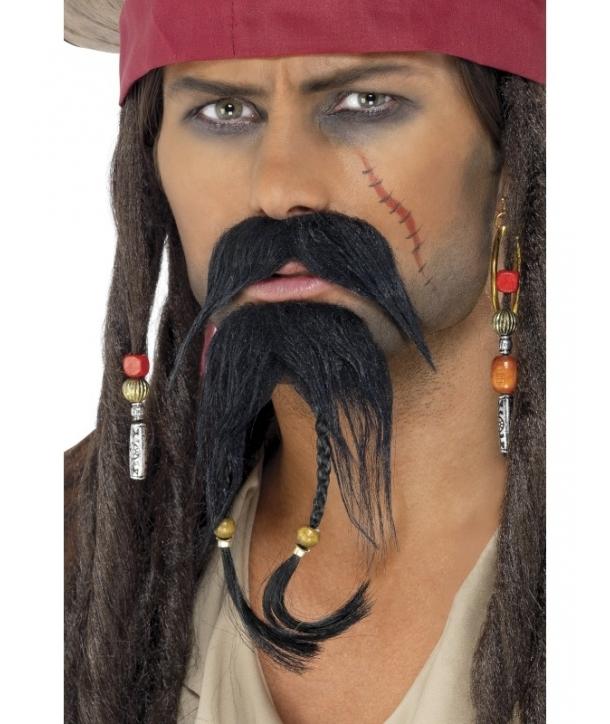 Set mustata si barba pirat