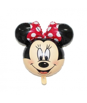 Balon folie Minnie cu fundita rosie
