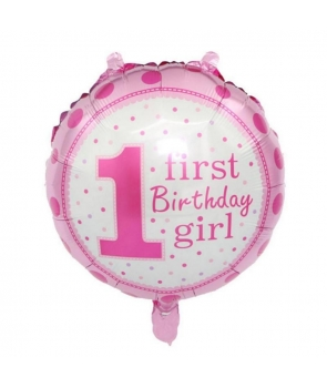 Balon folie First Birthday Girl