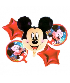 Set 5 baloane folie Mickey Mouse