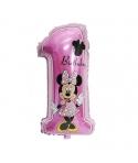 Balon folie prima aniversare Minnie