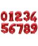 Balon folie cifra rosu, 100cm