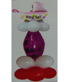 Aranjament baloane baby girl