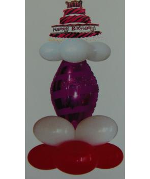 Aranjament baloane petrecere Happy birthday roz
