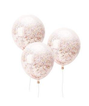 Set 3 baloane latex cu bilute