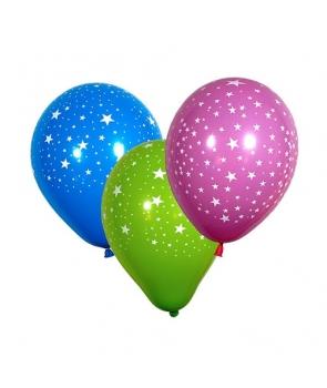 Set 6 baloane latex cu stelute