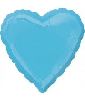 Set 3 baloane folie inima albastra