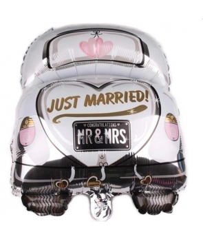 Balon folie Just married