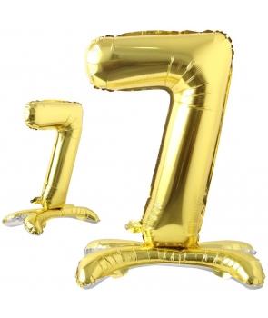 Balon folie cifra 7 cu suport
