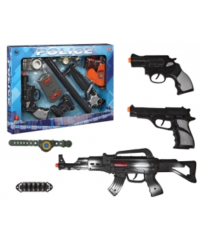 Set jucarii politist cu pistoale