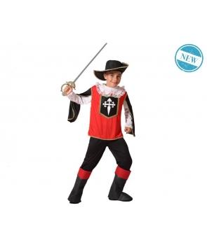 Costum carnaval baieti Muschetar cu palarie