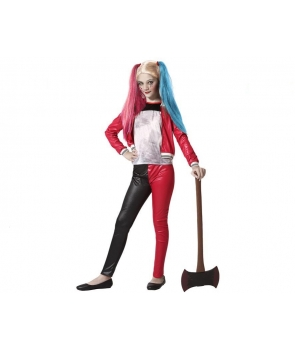 Costum carnaval Harley Quinn cu jacheta