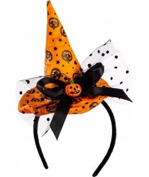 Minipalarie vrajitoare Halloween cu portocaliu