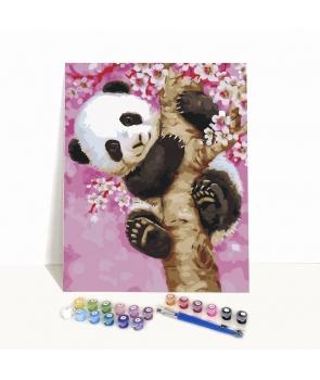 Set pictura pe numere Ursulet Panda