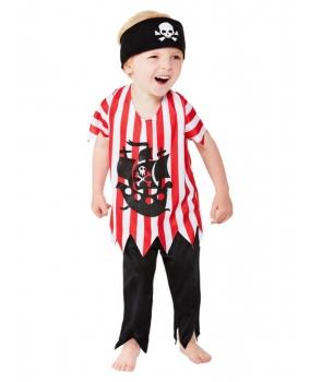 Costum copii pirat cu rosu