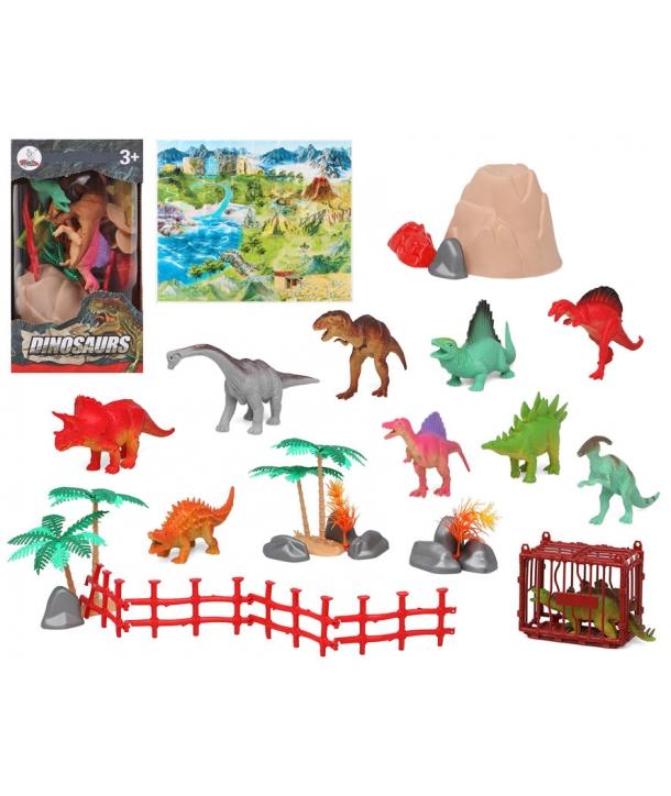 Set figurine dinozauri cu accesorii