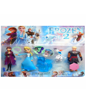 Set figurine Elsa si Anna cu prietenii