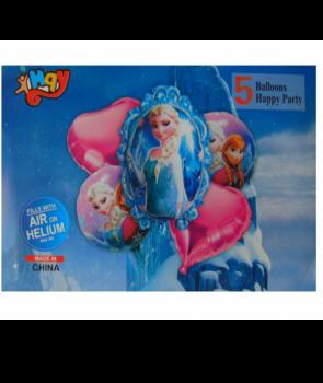 Set 5 baloane folie Elsa Frozen