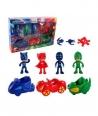 Set jucarii figurine si masini Eroi in Pijama